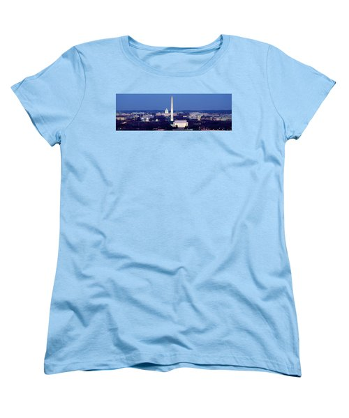 High Angle View Of A City, Washington Women's T-Shirt (Standard Cut) by Panoramic Images