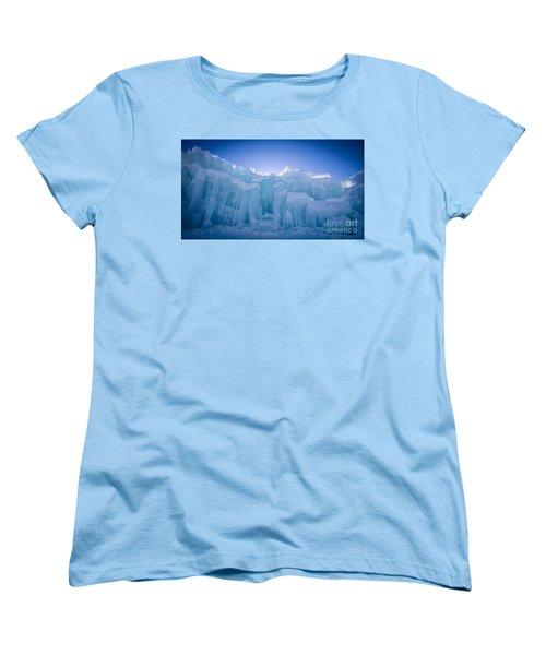 Ice Castle Women's T-Shirt (Standard Cut) by Edward Fielding