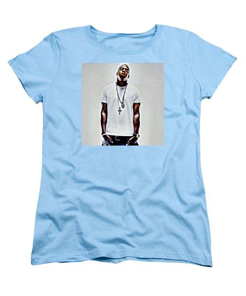 Jay-z Portrait Women's T-Shirt (Standard Cut) by Florian Rodarte