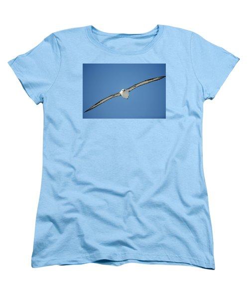 Laysan Albatross Soaring Hawaii Women's T-Shirt (Standard Cut) by Tui De Roy