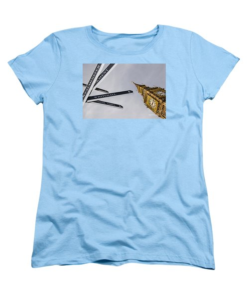 London Street Signs Women's T-Shirt (Standard Cut) by David Smith