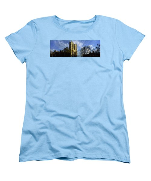 Low Angle View Of An Abbey, Westminster Women's T-Shirt (Standard Cut) by Panoramic Images