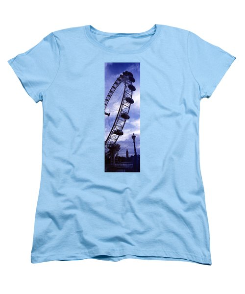 Low Angle View Of The London Eye, Big Women's T-Shirt (Standard Cut) by Panoramic Images