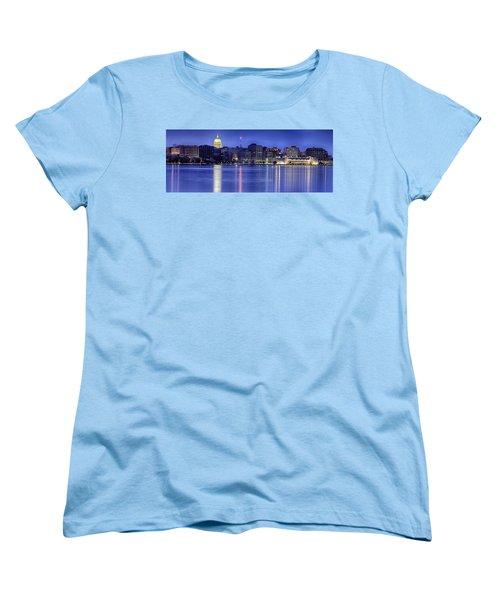 Madison Skyline Reflection Women's T-Shirt (Standard Cut) by Sebastian Musial