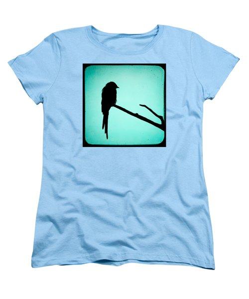 Magpie Shrike Silhouette Women's T-Shirt (Standard Cut) by Gary Heller