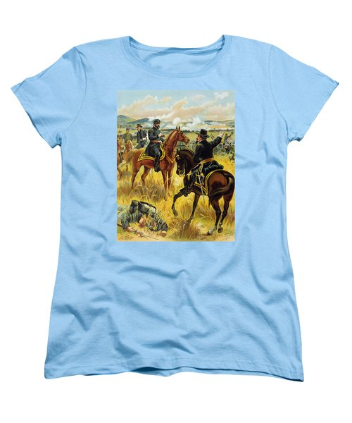 Major General George Meade At The Battle Of Gettysburg Women's T-Shirt (Standard Cut) by Henry Alexander Ogden