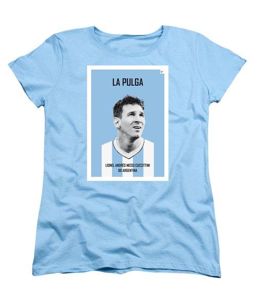 My Messi Soccer Legend Poster Women's T-Shirt (Standard Cut) by Chungkong Art