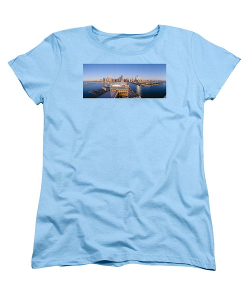 Navy Pier, Chicago, Morning, Illinois Women's T-Shirt (Standard Cut) by Panoramic Images