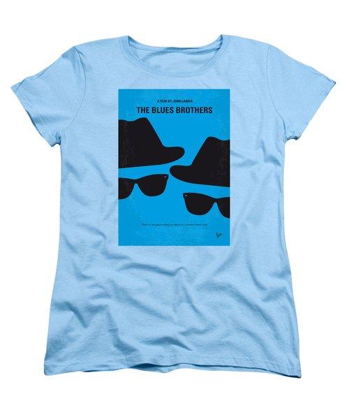 No012 My Blues Brother Minimal Movie Poster Women's T-Shirt (Standard Cut) by Chungkong Art