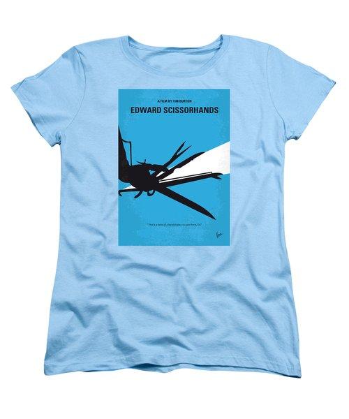 No260 My Scissorhands Minimal Movie Poster Women's T-Shirt (Standard Cut) by Chungkong Art