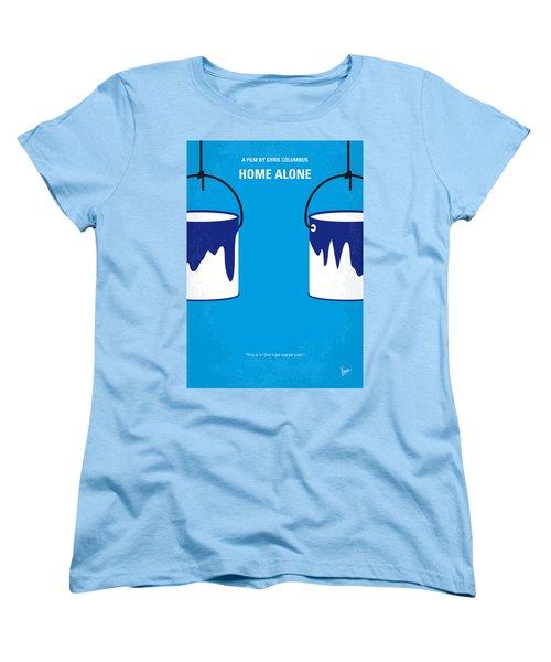 No427 My Home Alone Minimal Movie Poster Women's T-Shirt (Standard Cut) by Chungkong Art