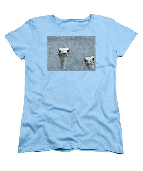 Ostriches Women's T-Shirt (Standard Cut) by James W Johnson