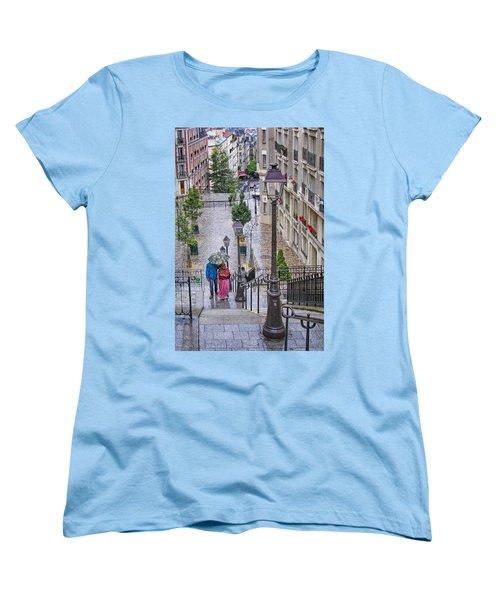 Paris Sous La Pluie Women's T-Shirt (Standard Cut) by Nikolyn McDonald