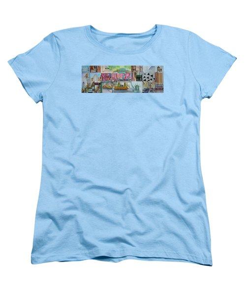 Postcards From New York City Women's T-Shirt (Standard Cut) by Jack Diamond