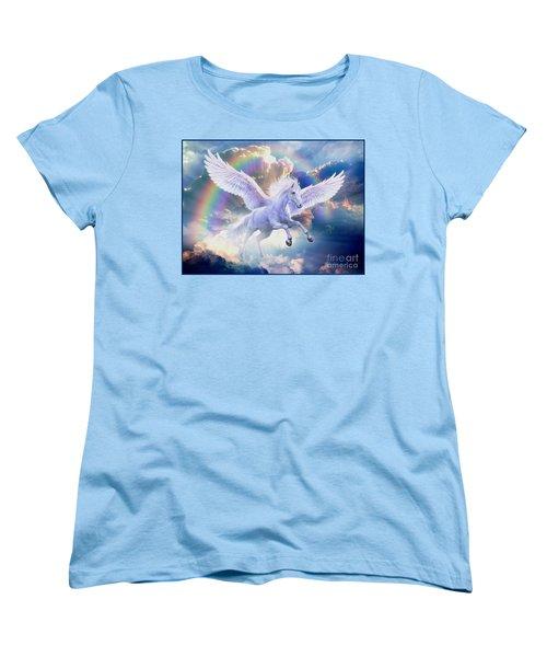 Rainbow Pegasus Women's T-Shirt (Standard Cut) by Jan Patrik Krasny
