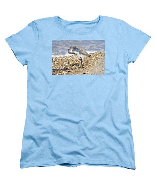 Sandpiper Women's T-Shirt (Standard Cut) by Betsy Knapp