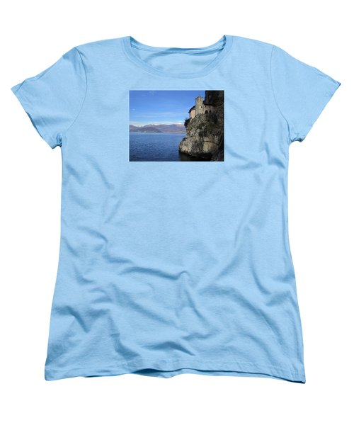 Women's T-Shirt (Standard Cut) featuring the photograph Santa Caterina - Lago Maggiore by Travel Pics