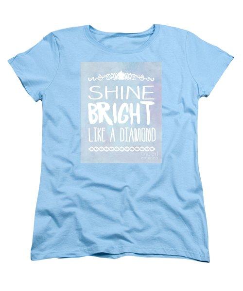 Shine Bright Blue Women's T-Shirt (Standard Cut) by Pati Photography