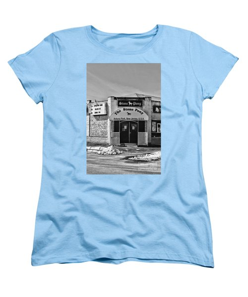 Stone Pony In Black And White Women's T-Shirt (Standard Cut) by Paul Ward