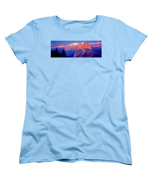 Sunlight Falling On A Mountain, Half Women's T-Shirt (Standard Cut) by Panoramic Images