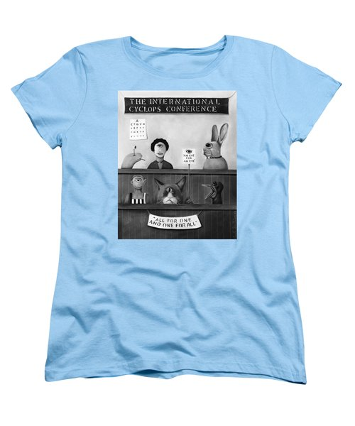 The International Cyclops Conference Edit 4 Women's T-Shirt (Standard Cut) by Leah Saulnier The Painting Maniac
