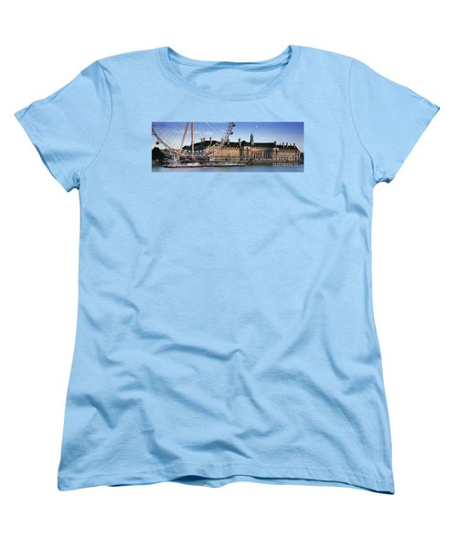 The London Eye And County Hall Women's T-Shirt (Standard Cut) by Rod McLean