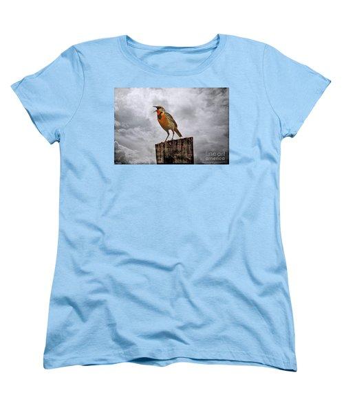 The Meadowlark's Song Women's T-Shirt (Standard Cut) by Elizabeth Winter