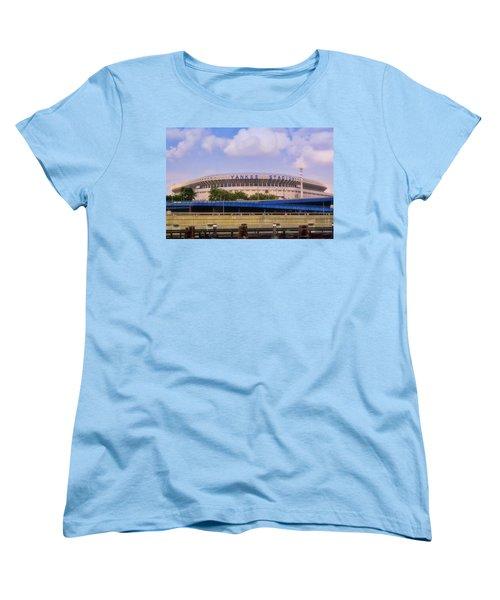 The Old Yankee Stadium Women's T-Shirt (Standard Cut) by Joann Vitali