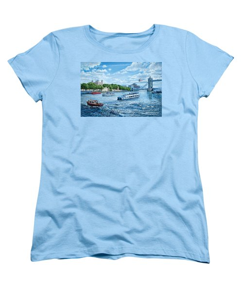 The Tower Of London Women's T-Shirt (Standard Cut) by Steve Crisp
