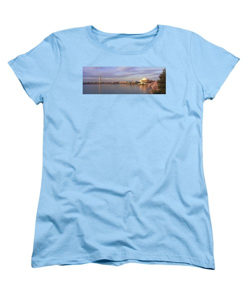 Usa, Washington Dc, Tidal Basin, Spring Women's T-Shirt (Standard Cut) by Panoramic Images