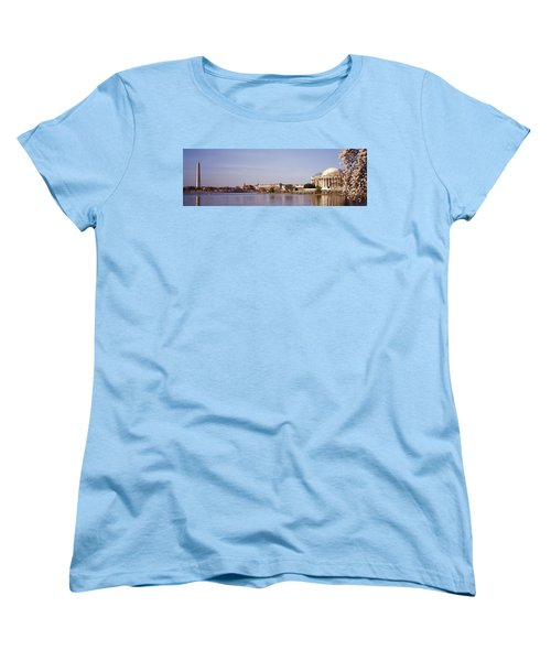 Usa, Washington Dc, Washington Monument Women's T-Shirt (Standard Cut) by Panoramic Images