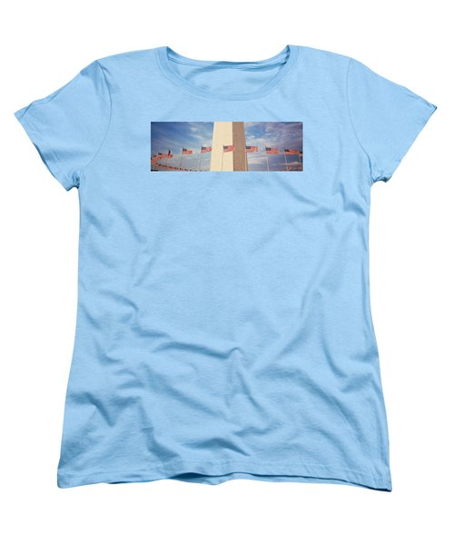 Washington Monument Washington Dc Usa Women's T-Shirt (Standard Cut) by Panoramic Images