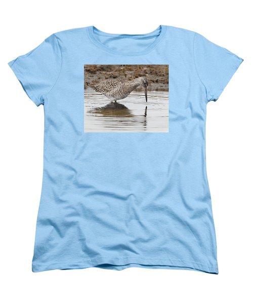 Willet Women's T-Shirt (Standard Cut) by Bill Wakeley