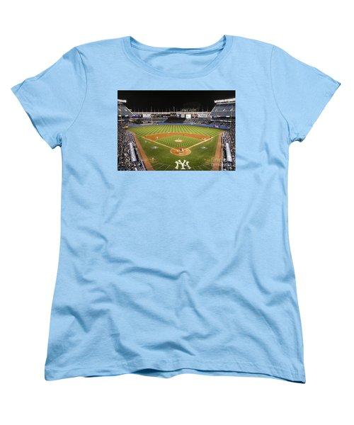 Yankee Stadium Women's T-Shirt (Standard Cut) by Chuck Spang
