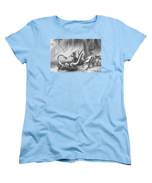 Boa Constrictor Attack Women's T-Shirt (Standard Cut) by Granger