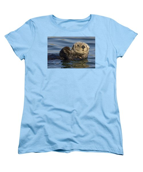 Sea Otter Monterey Bay California Women's T-Shirt (Standard Cut) by Suzi Eszterhas