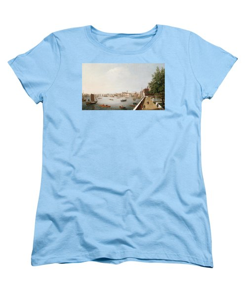 View Of The River Thames From The Adelphi Terrace  Women's T-Shirt (Standard Cut) by William James
