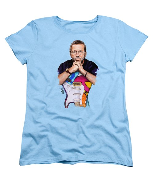 Eric Clapton Women's T-Shirt (Standard Cut) by Melanie D