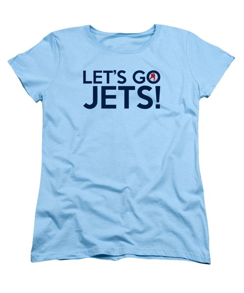 Let's Go Jets Women's T-Shirt (Standard Cut) by Florian Rodarte