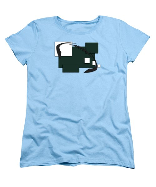 New York Jets Abstract Shirt Women's T-Shirt (Standard Cut) by Joe Hamilton