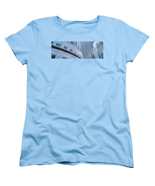 Skyscrapers In A City, Canary Wharf Women's T-Shirt (Standard Cut) by Panoramic Images