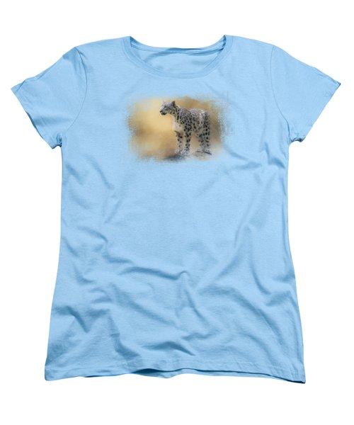 Snow Leopard Women's T-Shirt (Standard Cut) by Jai Johnson