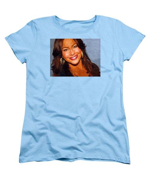 Sofia Vergara Art Print Women's T-Shirt (Standard Cut) by Best Actors