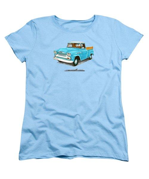1958 Chevrolet Apache Pick Up Women's T-Shirt (Standard Cut) by Jack Pumphrey