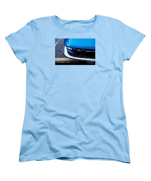 Women's T-Shirt (Standard Cut) featuring the photograph 1965 Corvette Sting Ray by M G Whittingham