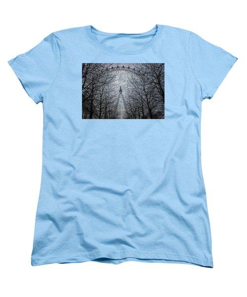 London Eye Women's T-Shirt (Standard Cut) by Martin Newman