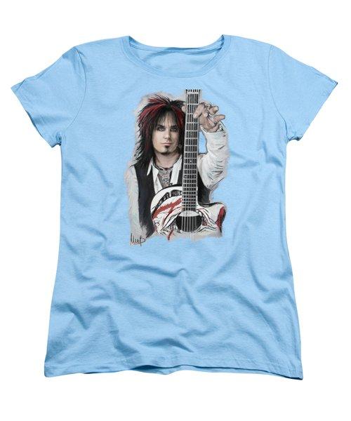 Nikki Sixx Women's T-Shirt (Standard Cut) by Melanie D