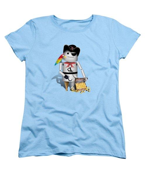 Robo-x9 The Pirate Women's T-Shirt (Standard Cut) by Gravityx9  Designs