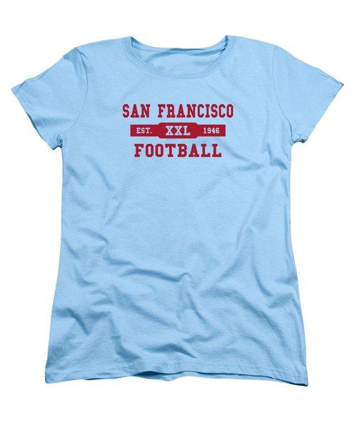 49ers Retro Shirt Women's T-Shirt (Standard Cut) by Joe Hamilton