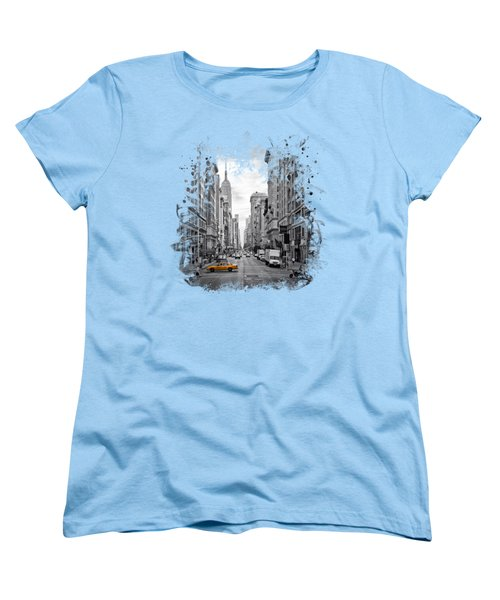 New York City 5th Avenue Women's T-Shirt (Standard Cut) by Melanie Viola